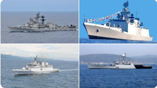 """Việc Ấn Độ triển khai 4 tàu chiến đến Biển Đông đang khiến dư luật đặc biệt chú ý, nhất là yếu tố """"chống Trung Quốc"""". (Nguồn: Hải quân Ấn Độ)"""
