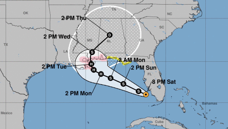 Sản xuất dầu lại bị dừng do bão Sally