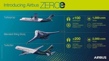Airbus tiết lộ 3 mẫu máy bay chạy bằng hydro