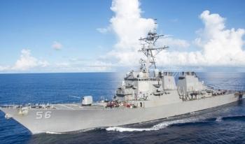 Mỹ đưa 2 tàu chiến tới eo biển Đài Loan bất chấp Trung Quốc phản đối