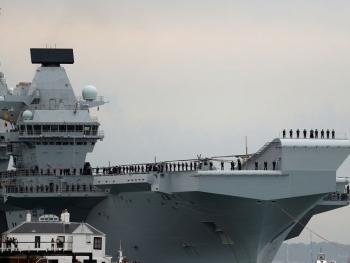Tàu sân bay mới của Anh HMS Queen Elizabeth thăm châu Á, đi qua Biển Đông trong tháng 5