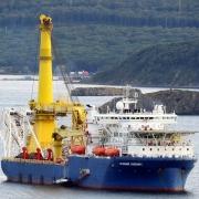 Tàu Akademik Chersky - con tàu duy nhất có khả năng thi công Nord Stream 2 - rời cảng Nakhodka tới Singapore
