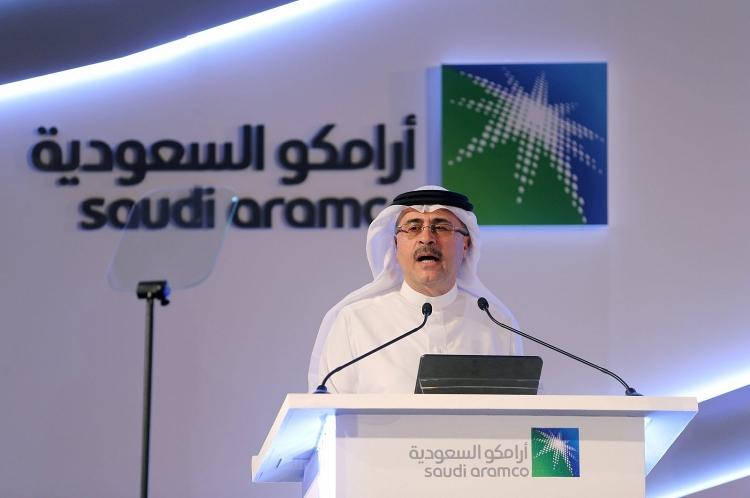 CEO Aramco , Amin Nasserphát biểu trong một cuộc họp báo tại Trung tâm Hội nghị Plaza ở Dhahran, Ả Rập Xê Út, vào ngày 3 tháng 11 năm 2019.
